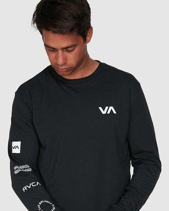 4 All Out Rvca Long Sleeve Tee Black R307046 RVCA