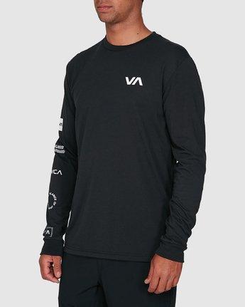 2 All Out Rvca Long Sleeve Tee Black R307046 RVCA