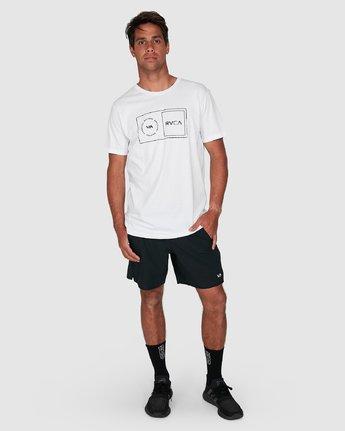 6 Sport Balance Box Short Sleeve Tee White R307049 RVCA