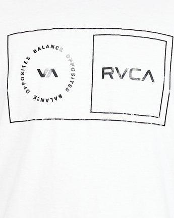 5 Sport Balance Box Short Sleeve Tee White R307049 RVCA