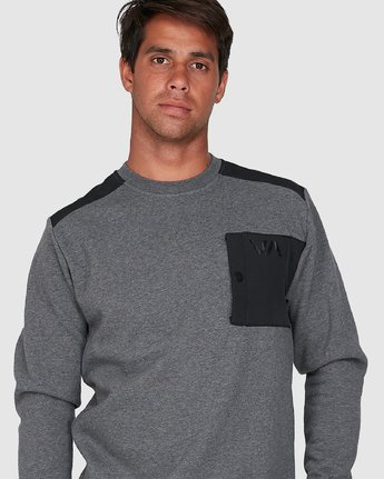 4 Hybrid Crew Fleece Grey R307153 RVCA