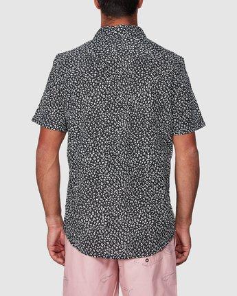 3 Presidio Short Sleeve Shirt Black R307190 RVCA