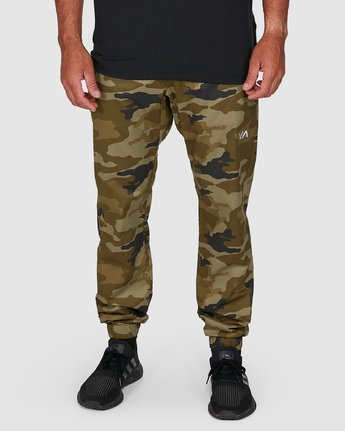 4 SPECTRUM CUFFED PANTS Green R307276 RVCA