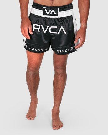 9 RVCA MUAY THAI SHORTS Black R307312 RVCA