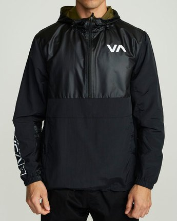 1 Utility Anorak Jacket Black R307435 RVCA