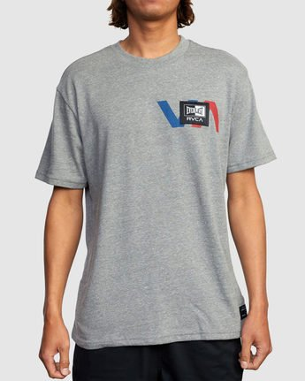 2 EVERLAST STACK PATCH SHORT SLEEVE TEE Grey R317080 RVCA