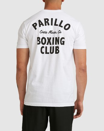 2 PARILLO BOXING CLUB SHORT SLEEVE TEE White R317083 RVCA