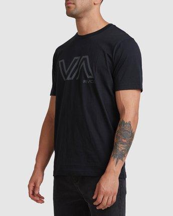 1 STENCIL VA SHORT SLEEVE TEE Black R317087 RVCA