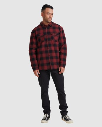 4 REPLACEMENT FLANNEL LONG SLEEVE SHIRT Red R317182 RVCA