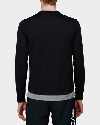 2 Runner Mesh Long Sleeve T-Shirt Black R371092 RVCA