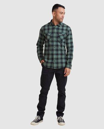 4 Treets Long Sleeve Shirt Green R372190 RVCA