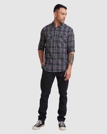 4 Treets Long Sleeve Shirt Grey R372190 RVCA