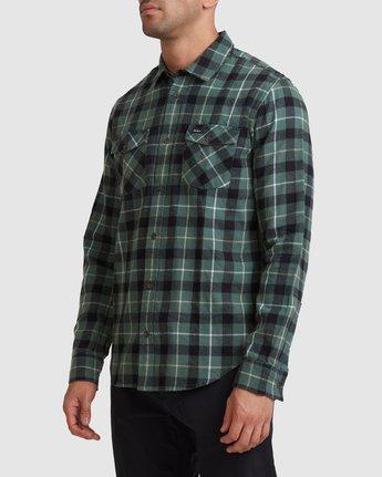 1 Treets Long Sleeve Shirt Green R372190 RVCA