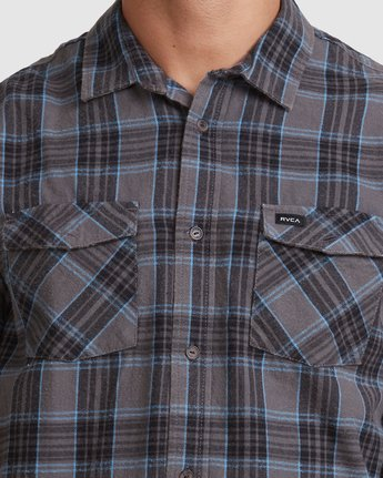 3 Treets Long Sleeve Shirt Grey R372190 RVCA