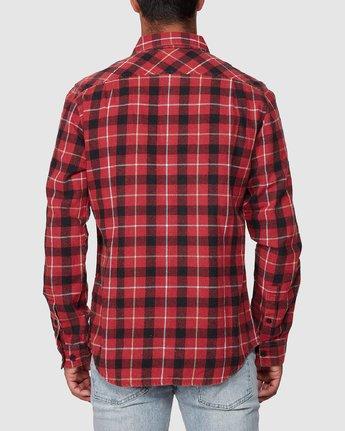3 Treets Long Sleeve Shirt Brown R372190 RVCA