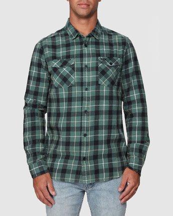 5 Treets Long Sleeve Shirt Green R372190 RVCA