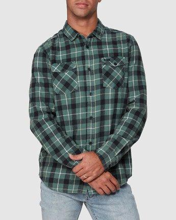 6 Treets Long Sleeve Shirt Green R372190 RVCA