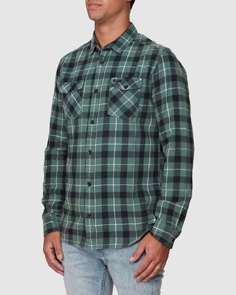 7 Treets Long Sleeve Shirt Green R372190 RVCA