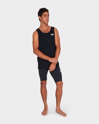 3 Va Vent Sleeveleshorts S Sleeve T-Shirt Black R381001 RVCA