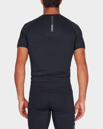 2 Va Compression Short Sleeve T-Shirt Black R381048 RVCA