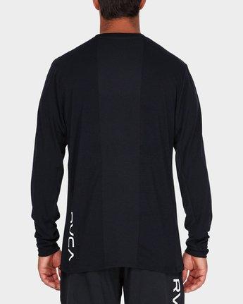 2 VA Vent Long Sleeve Top Black R381092 RVCA