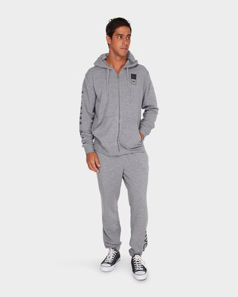 4 Va Guard Fleece Hoodie Grey R381154 RVCA