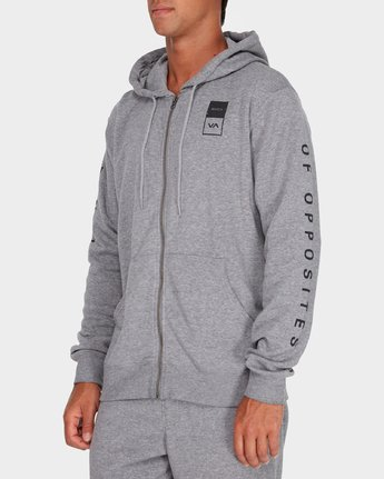 1 Va Guard Fleece Hoodie Grey R381154 RVCA