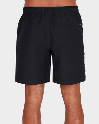 2 Grappler 17 inch Shorts Black R381320 RVCA