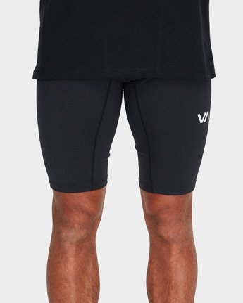 4 VA Compression Shorts Black R381322 RVCA