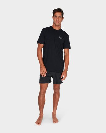 "6 Va Tech Short 16"" Shorts Black R381326 RVCA"