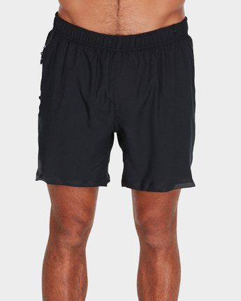 "1 Va Tech Short 16"" Shorts Black R381326 RVCA"