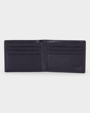 3 Crest Bi-fold Wallet Black R381492 RVCA