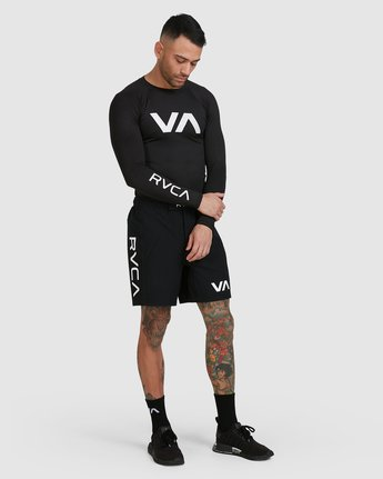 14 Sport Long Sleeve Rashguard Black R381661 RVCA