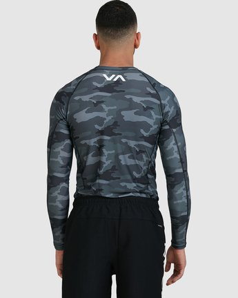 4 Sport Long Sleeve Rashguard Camo R381661 RVCA