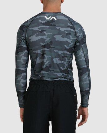 5 Sport Long Sleeve Rashguard Camo R381661 RVCA