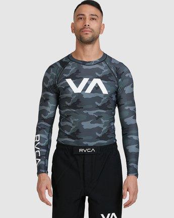 1 Sport Long Sleeve Rashguard Camo R381661 RVCA