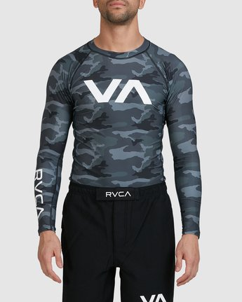 3 Sport Long Sleeve Rashguard Camo R381661 RVCA
