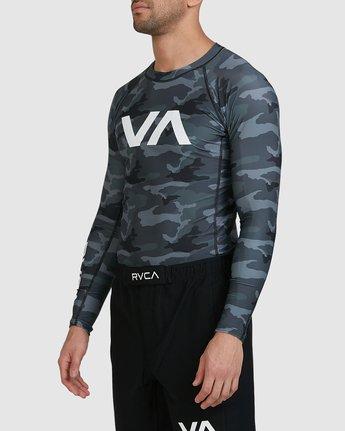 7 Sport Long Sleeve Rashguard Camo R381661 RVCA