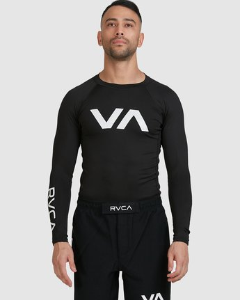 1 Sport Long Sleeve Rashguard Black R381661 RVCA