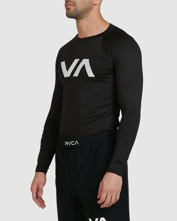 7 Sport Long Sleeve Rashguard Black R381661 RVCA
