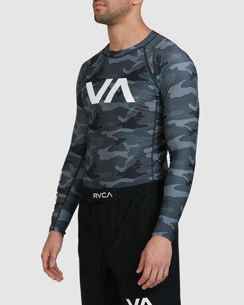 12 Sport Long Sleeve Rashguard Camo R381661 RVCA