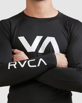 13 Sport Long Sleeve Rashguard Black R381661 RVCA