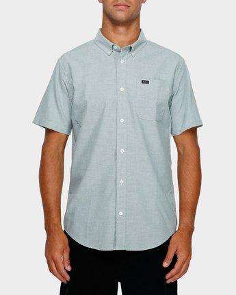1 Thatll Do Stretch Short Sleeve Shirt Green R382185 RVCA