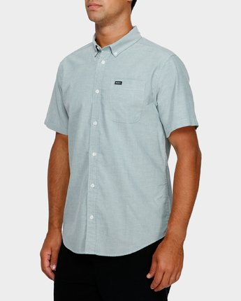 2 Thatll Do Stretch Short Sleeve Shirt Green R382185 RVCA