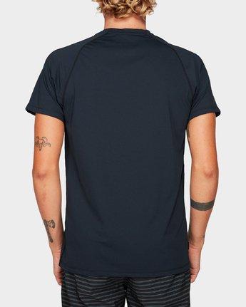 2 Micro Mesh Short Sleeve Tee Black R382644 RVCA