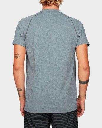 2 Micro Mesh Short Sleeve Tee Grey R382644 RVCA