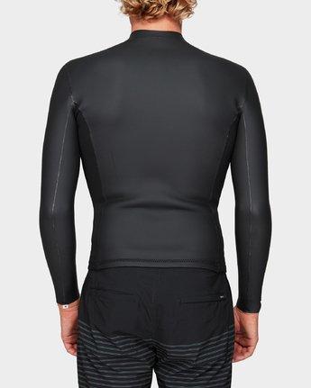 2 Front Zip Smoothie Jacket Black R383641 RVCA