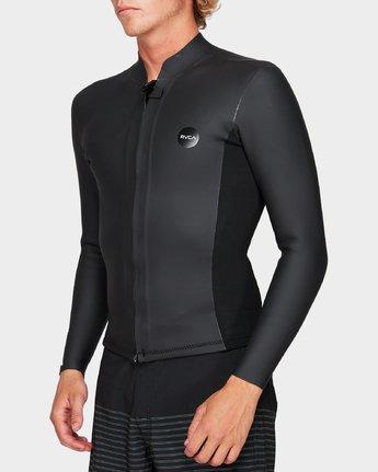 1 Front Zip Smoothie Jacket Black R383641 RVCA