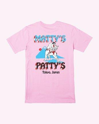 0 Matty's Patty's Tokyo T-Shirt Pink R391061 RVCA