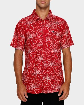 1 Blind Floral Shirt Brown R391181 RVCA